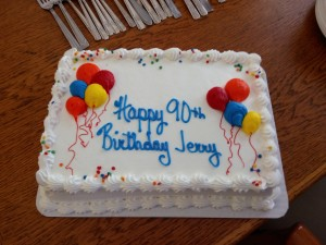 Jerry's birthday cake